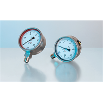 Hastelloy pressure gauge for highly aggressive media
